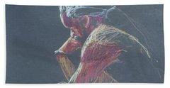 Colored Pencil Sketch Hand Towel