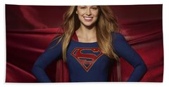 Colored Pencil Study Of Supergirl - Melissa Benoist Bath Towel