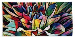 Colorful Abstract Dahlia Hand Towel