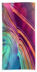Colorful Abstract Painting Hand Towel by Gabriella Weninger - David