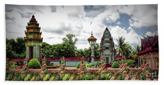 Colorful Architecture Siem Reap Cambodia  Hand Towel