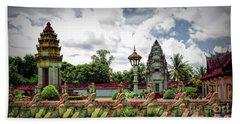 Colorful Architecture Siem Reap Cambodia  Bath Towel