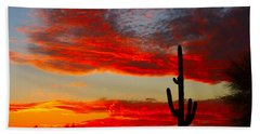 Colorful Arizona Sunset Bath Towel