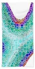 Colorful Art - Colorforms 6 - Sharon Cummings Bath Towel