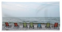 Colorful Beach Chairs Bath Towel