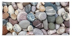 Bath Towel featuring the photograph Colorful Beach Pebbles by Elena Elisseeva