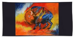 Colorful Bison Hand Towel