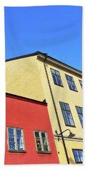 Colorful Buildings Of Stockholm Bath Towel