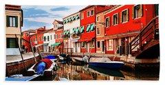 Colorful Burano Sicily Italy Bath Towel