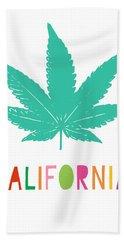 Colorful California Cannabis- Art By Linda Woods Hand Towel