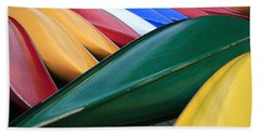 Colorful Canoes Bath Towel