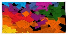 Colorful Chaos Two Bath Towel by Val Arie