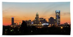 Colorful Charlotte, North Carolina Hand Towel by Serge Skiba