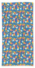 Colorful Circus Food Treats Hand Towel