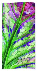 Colorful Coleus Abstract 4 Bath Towel