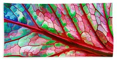 Colorful Coleus Abstract 5 Bath Towel
