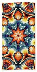 Colorful Concentric Motif Bath Towel by Phil Perkins