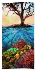 Colorful Coral Seas Hand Towel