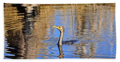 Bath Towel featuring the photograph Colorful Cormorant by Al Powell Photography USA