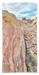 Colorful Crest In Valley Of Fire Hand Towel by Ray Mathis