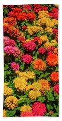Colorful Dahlia Garden Hand Towel