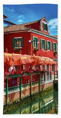 Colorful Day In Burano Bath Towel