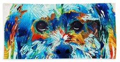 Colorful Dog Art - Lhasa Love - By Sharon Cummings Hand Towel