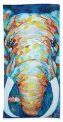 Colorful Elephant Hand Towel