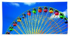 Colorful Ferris Wheel Bath Towel