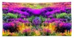 Colorful Field Of A Lavender Bath Towel by Anton Kalinichev