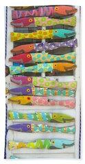 Colorful Fish Hand Towel by Barbara McDevitt