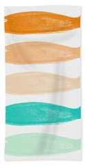 Colorful Fish Hand Towel by Linda Woods