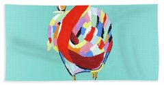 Colorful Flamingo Hand Towel