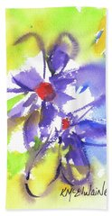 Colorful Flower Bath Towel by Kathleen McElwaine