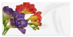 Colorful Freesias Bath Towel