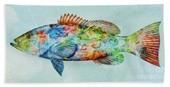 Colorful Gag Grouper Art Hand Towel