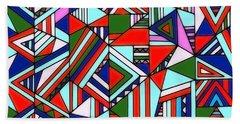 Colorful Geometric Design Bath Towel