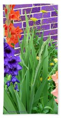 Colorful Gladiolas Hand Towel