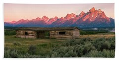 Colorful Grand Teton National Park Sunrise Bath Towel by Serge Skiba