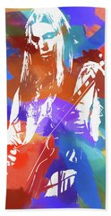 Colorful Gregg Allman Hand Towel