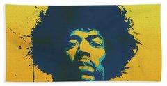 Colorful Hendrix Pop Art Bath Towel