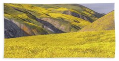 Bath Towel featuring the photograph Colorful Hill And Golden Field by Marc Crumpler
