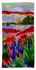 Hand Towel featuring the painting Colorful by Jamie Frier