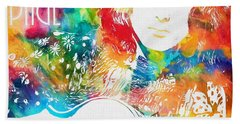Colorful Jimmy Page Hand Towel by Dan Sproul