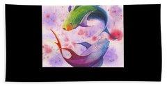 Colorful Koi Hand Towel