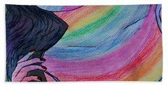 Colorful Lady Bath Towel