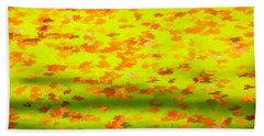 Colorful Leaves On Canal Hand Towel