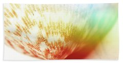 Colorful Light Flare Over Seashell Bath Towel