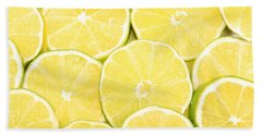 Colorful Limes Hand Towel by James BO  Insogna