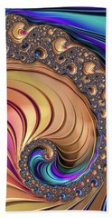 Hand Towel featuring the digital art Colorful Luxe Fractal Spiral by Matthias Hauser